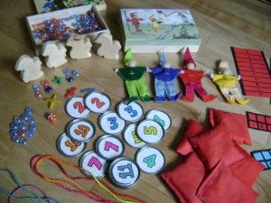 waldorf math manipulatives and games.  sweet stories connected to many items.  a