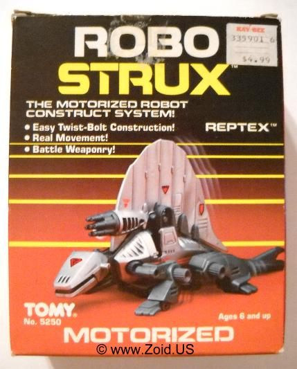 "Reptex, a dimetrodon-looking Zoids toy re-branded as ""Robo-Strux"" in the U.S. in the mid-1980s"