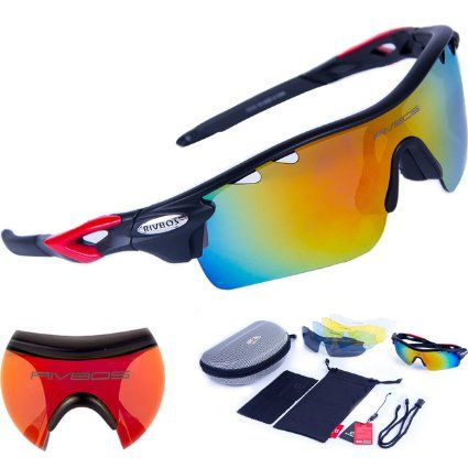 oakley womens pulse oo9198 16 polarized  rivbos 801 polarized sports sunglasses with 5 interchangeable lenses