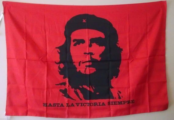 Che Guevara Self Portrait Red Official Cloth Textile Fabric Poster Flag Tapestry Wall Banner Free Shipping New Cheg Fabric Poster Wall Banner Textile Fabrics