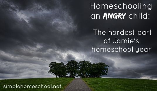 Are you homeschooling an angry child? Jamie is there too, and she opens up to share vulnerably about the challenges and how to navigate them.