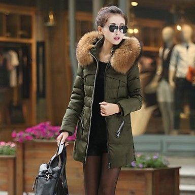 fashional isolation longue doudoune »les femmes avec un grand col de fourrure - EUR € 36.35