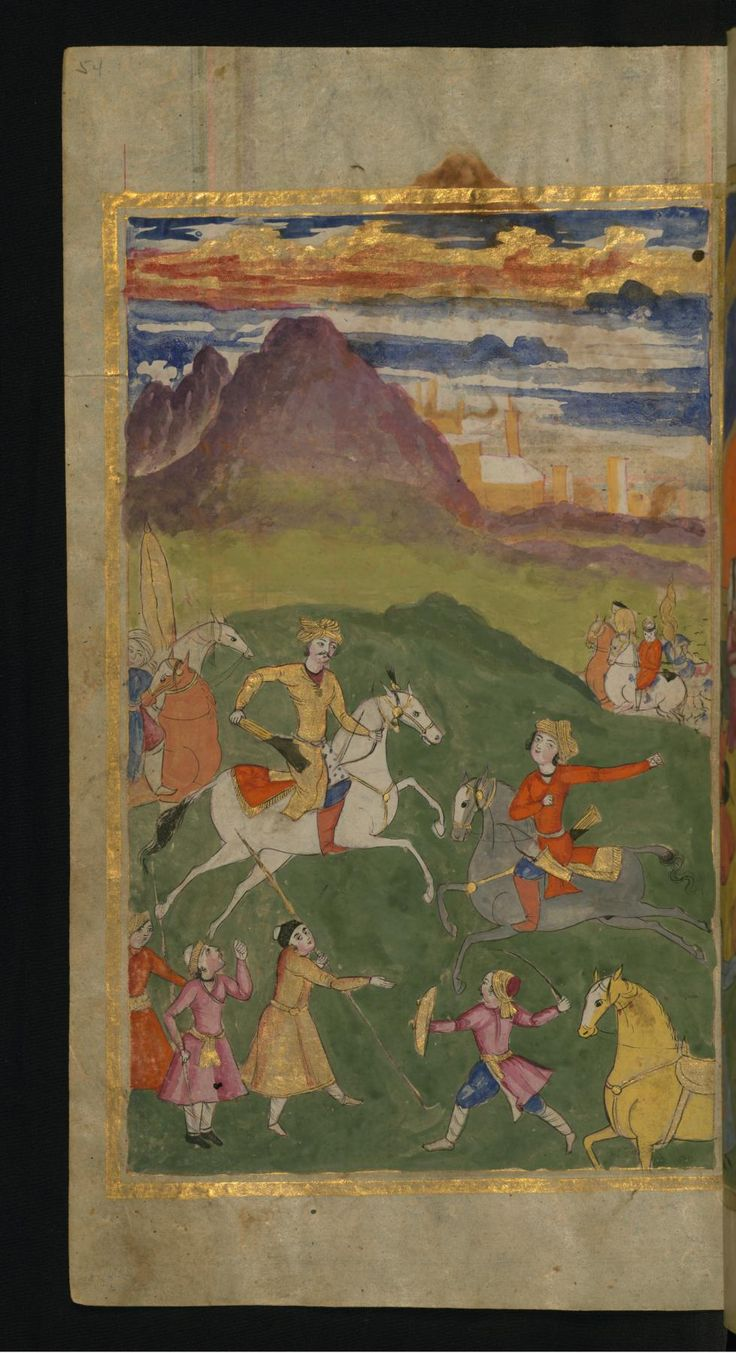 A Battle Scene - Collection of Poems (masnavi). Walters manuscript W.626