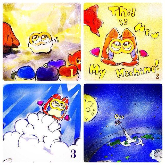 "Miz Manga 007 ""Miz's New Departure for World Invasion"" Check it on the website! : run-mizumushi-kun.com/mini-manga/mizs-new-depature-world-invation         #mizumushikun #manga #art #artwork #funny #invasion #comic #space #earth #sky"