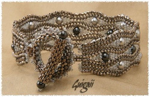 Les Perles... ma passion... - Serpentine argent