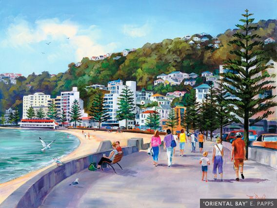 Oriental Bay by E. Papps