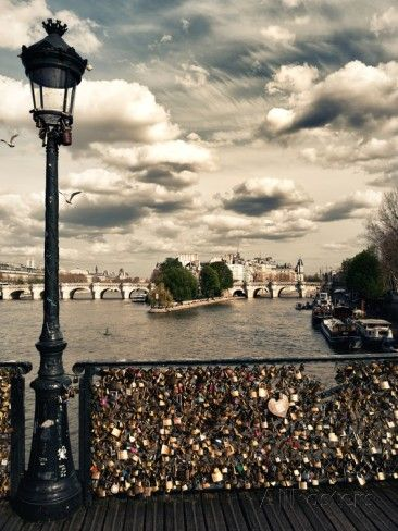 The Seine River - Pont des Arts - Paris Photographic Print by Philippe Hugonnard at AllPosters.com