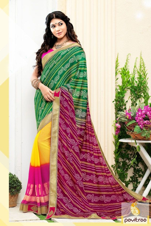 #Multi #Pink #Georgette #Silk Festival Saree with Bandhej Print #saree, #designersaree, #sareeonline, #partywearsaree, #indiansaree, #sareecollection, #sareesonlineshopping, #buysareeonline, #fashionsaree, #latestsaree,   #newsarees, #sareewithblouse, #weddingsareeonline, #designerblouse, #bridalsaree More Product : http://www.pavitraa.in/store/designer-sarees/?utm_source=mk&utm_medium=pinterestpost&utm_campaign=6Jan Any Query :  Call / WhatsApp : +91-76982-34040