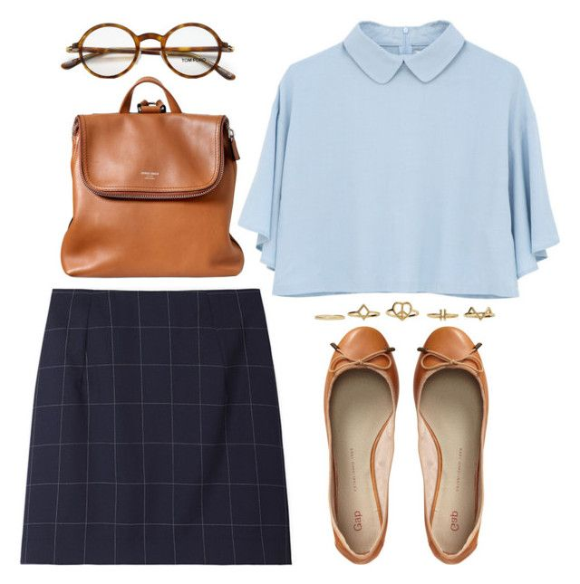 """BACK TO SCHOOL"" by dasha-volodina ❤ liked on Polyvore featuring moda, Jacquemus, Giorgio Armani, Tom Ford, Gap e BackToSchool"