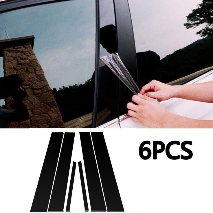 6pcs/Set Mirror Effect Window Pillar Posts Cover Trim high quality accessory part suitable For Honda Civic 2006-2011