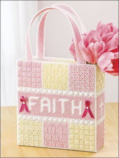 Think Pink in Plastic Canvas