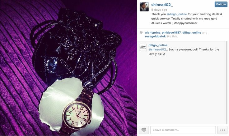 Shinead sent us this pic of her #GUESSwatch when she received it. How beautiful is the packaging! #welove #onlineshopping