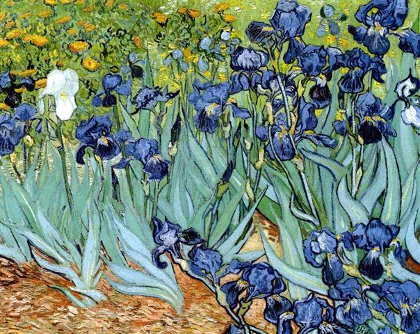 Vincent van Gogh, <em>Irises</em> (1889).<br />Photo: Courtesy of artnet Price Database.