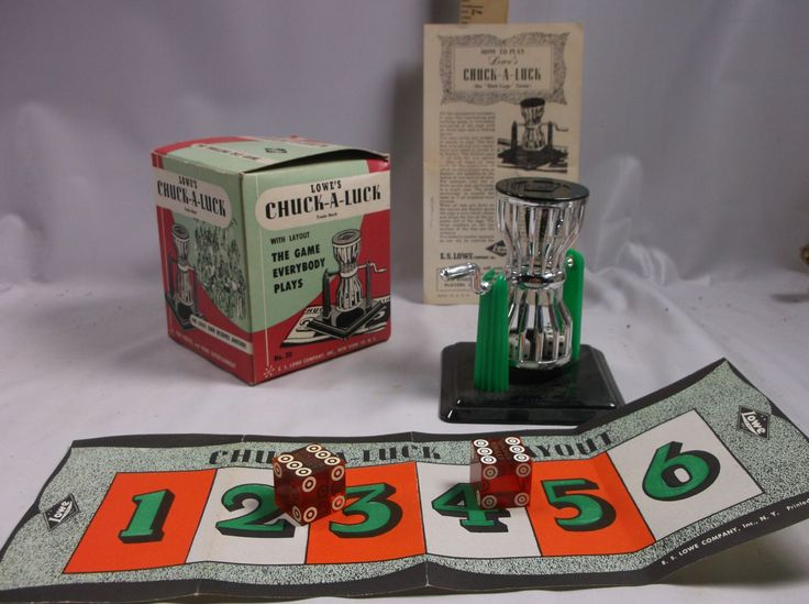 Vintage Casino Gaming Lowe's Chuck-a-Luck Cage Dice Machine Mint In Box Estate Sale Find Reno Nevada Casino epsteam
