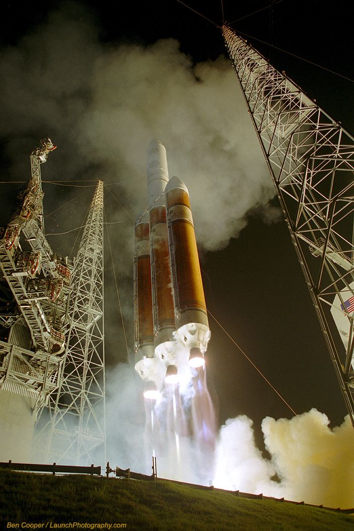 """""""Delta 4-Heavy fires up the night on second flight"""" by launchphotography.com #rocket"""