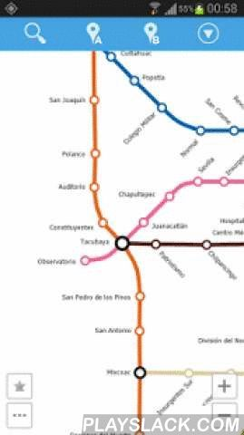 Mexico City Metro Map  Android App - playslack.com , This is an easy-to-use navigator for Mexico City metro. No Internet connection required so you can use it on the go.Features:- simple, fast and easy to use- gestures controlled map- stations quick search- optimal route planning- step-by-step route directions (on map or in a detailed list)