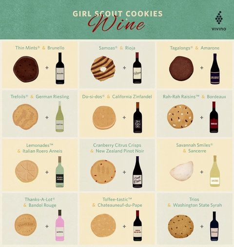 The Best Wines to Enjoy with Your Girl Scout Cookies from InStyle.com