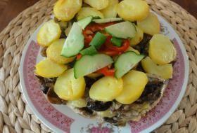 Jak zapéct brambory s houbami | recept