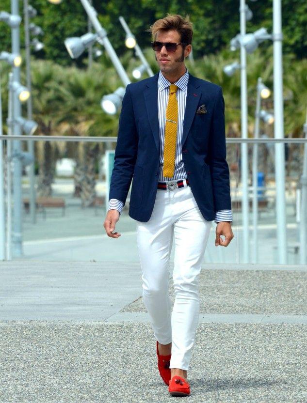68 best Blue suite white pants images on Pinterest