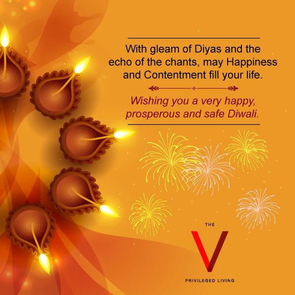 The V wishes you a colorful and bright Diwali of Happiness and Prosperity. #HappyDiwali