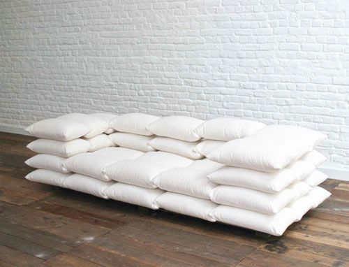 Matt and I need new couches...should I just go buy a ton of pillows instead??
