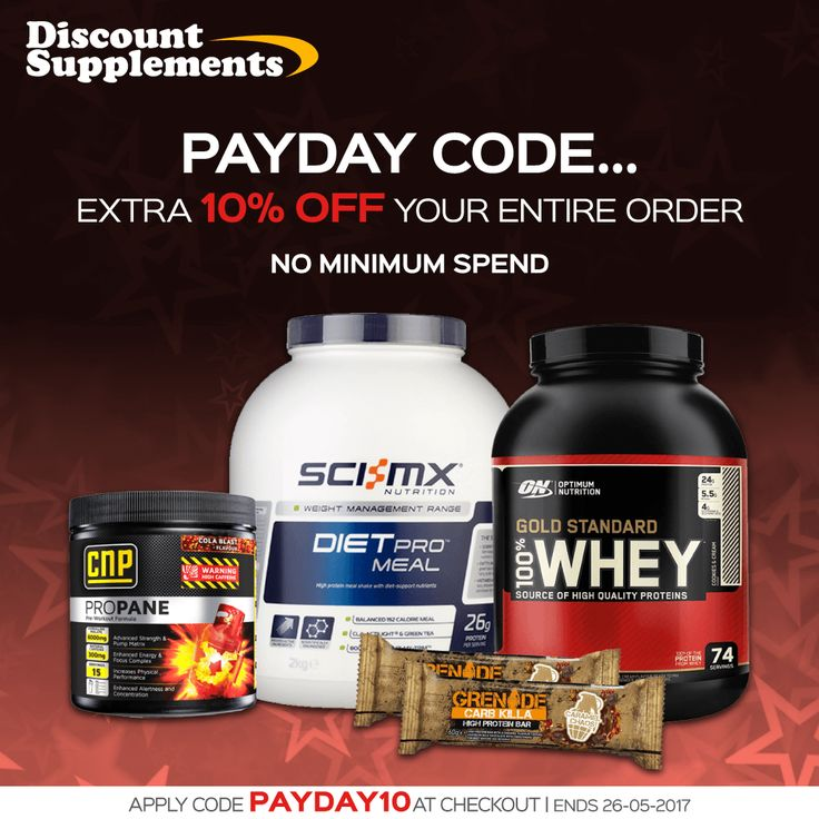 🔥🔥 PAYDAY CODE 🔥 🔥 Best value proteins, bars & sports supplements www.discount-supplements.co.uk #GoldStandardWhey #proteinbars #protein #diet #whey #gym #bodybuilding #fit #fatloss #sport