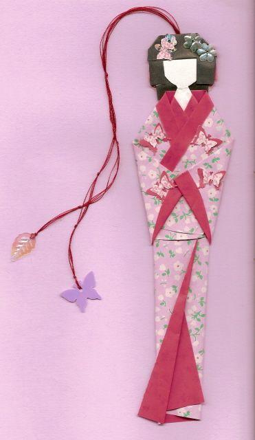 Geisha bookmark by Karnilla More