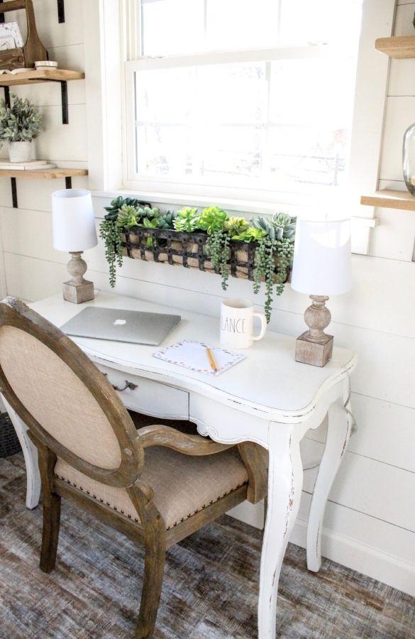CottonStem.com tiny home she shed office farmhouse desk