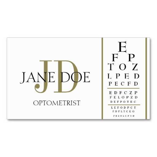 17 best images about optometrist business cards on for Optometrist business card