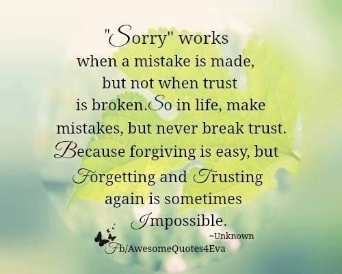 Broken Trust Quotes And Sayings: ~ Inspirations And Quotes