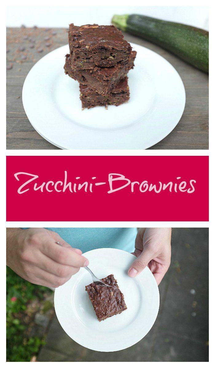 Meine Lieblingsbrownies: Zucchini-Brownies. Ganz einfach, lecker und ein Genuss ohne Reue.