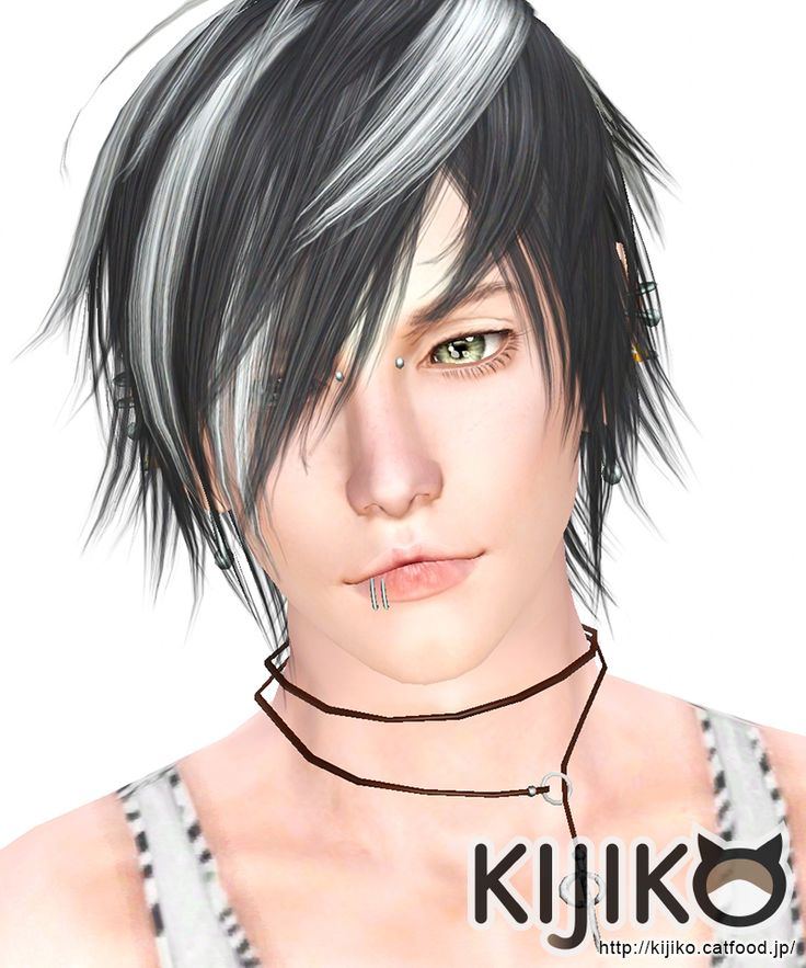 White Toyger Kitten hairstyle for him by Kijiko for Sims 3 - Sims Hairs - http://simshairs.com/white-toyger-kitten-hairstyle-for-him-by-kijiko/