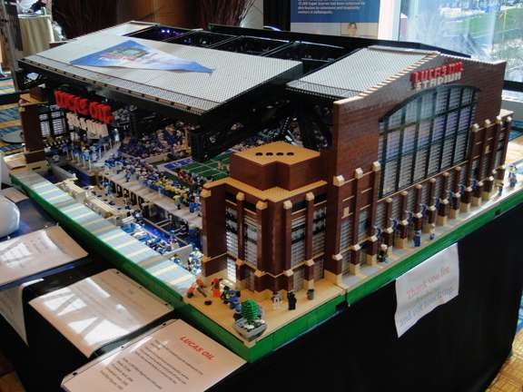Lucas Oil Stadium Legos! Too cool!   I ♥ the Colts!   Pinterest ...