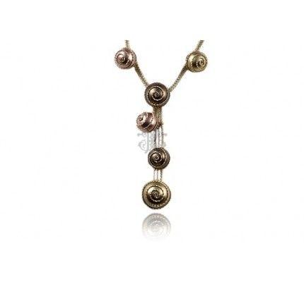 Κολιέ κόκκινο χρυσό και χρυσό #necklace #red_gold #gold #woman #classic #special