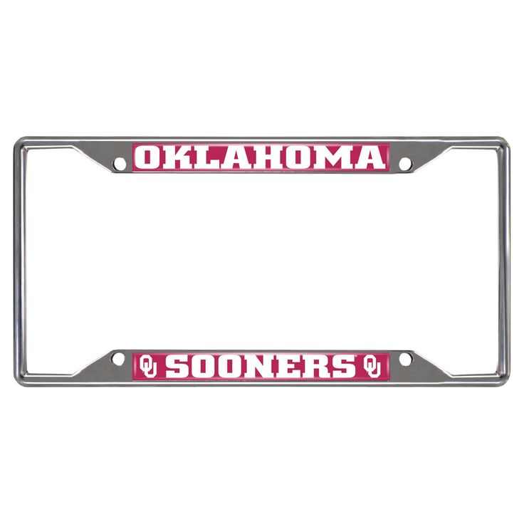 NCAA License Plate Frame University of Oklahoma