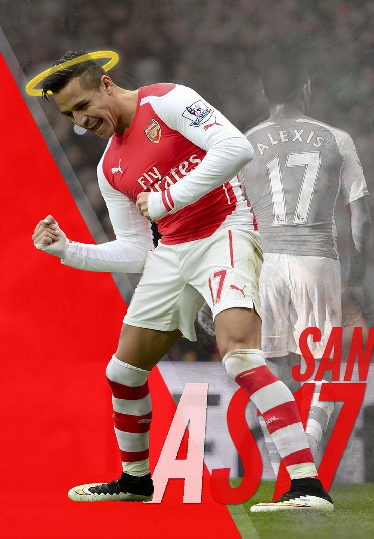 ¿Sabías que #Alexis está de santo hoy? ¡Sí, justo el 17, su número de camiseta en el Arsenal! Por eso, en Titular decidimos homenajearlo. Comparte la imagen, dale Me Gusta y dedícale un saludo al chileno!