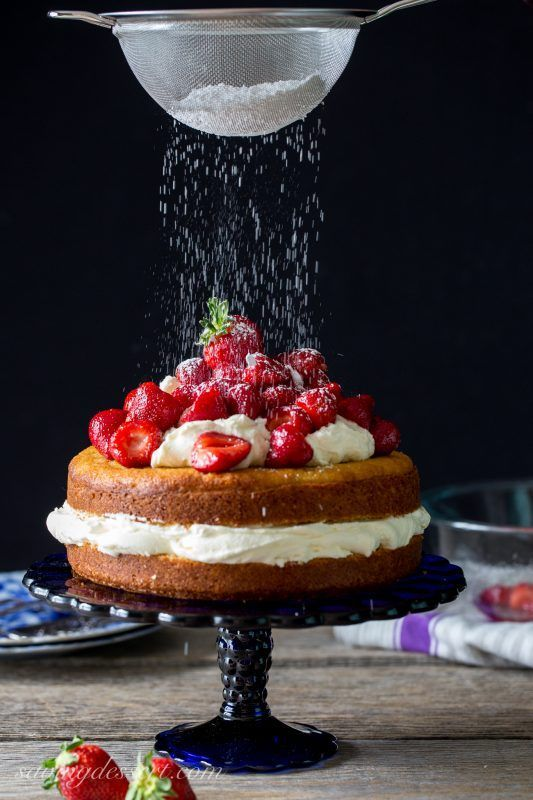 Fresh Strawberry Mascarpone Cake | Saving Room for Dessert