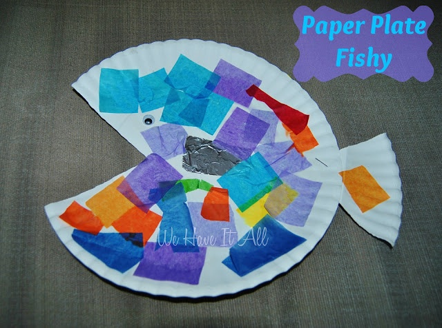 Paper Plate Fish #Craft