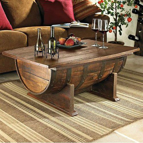 Awesome wine barrel coffee table!! 15 DIY Simple and Genius Ideas that can Inspire You