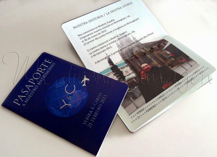 Invitaciones de Boda: Pasaporte   Tarjeta de Embarque