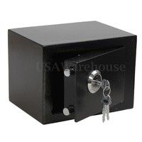 iron steel black key operated safe box money cash strong steel for home office specification c