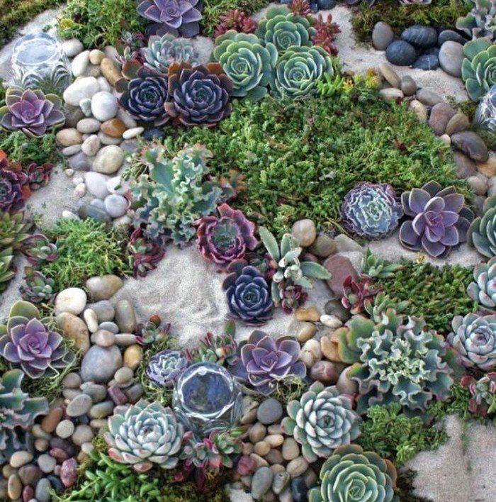 les 25 meilleures id es de la cat gorie jardin de rocaille succulent sur pinterest jardin de. Black Bedroom Furniture Sets. Home Design Ideas