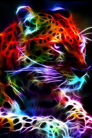1000 images about animales iluminados on pinterest - Neon animals wallpaper ...