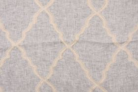 Curtains... Sheer Fabric :: 2.3 Yards Robert Allen Beacon Hill Deblois Linen Sheer Drapery Fabric in Antique - Fabric Guru.com: Fabric, Discount Fabric,...