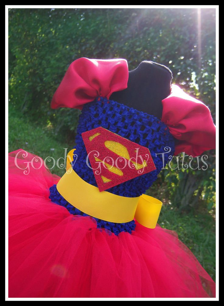 LOIS AND CLARK Superman Inspired Tutu Dress. $55.00, via Etsy.    @Tiffany Oscarson!!