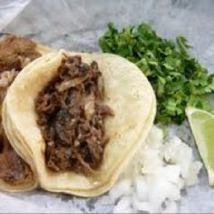 Tacos de Cabeza De Res (Beef Head Tacos)