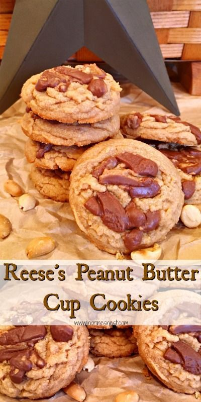 Reese's Peanut Butter Cup Cookies – #Butter #cooki…