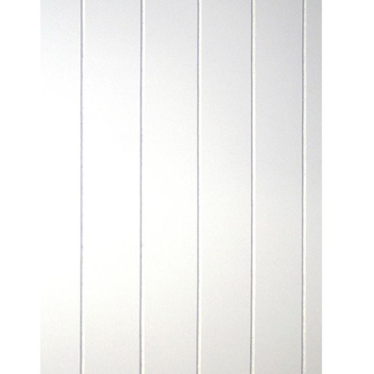 Exterior Walldesign Ideas: 32 Sq. Ft. Beadboard White V-Groove Panel-109693