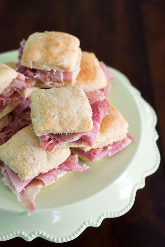 Smithfield Ham Biscuits... this ham is even better on Ukrop's Whitehouse Rolls