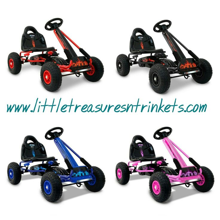 New go karts 4 colours to choose from.  Built with strong frame and directional steering wheel, you can let them pedal around with peace of mind.  Suitable for 3 years and above.  Order now for Christmas #gokart #outdoors #pedal #outdoors #kids #christmas #exercise #present #littletreasures http://www.littletreasuresntrinkets.com/listing/kids-pedal-go-kart/
